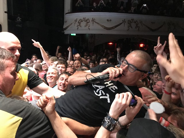 Photo of Milo from the Descendents crowd surfing at their Shepherds Bush Empire gig in London, August 2019