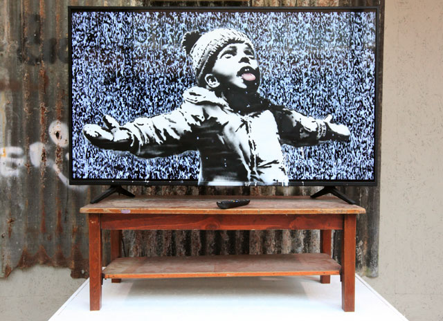 Banksy Ultra HD TV