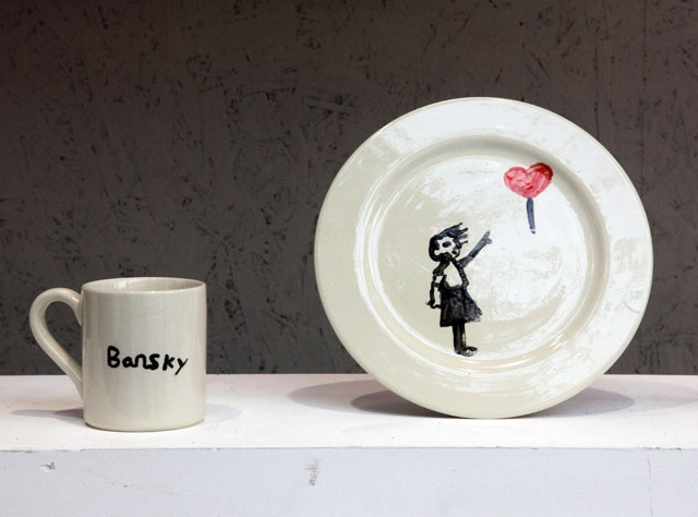 Banksy crockery