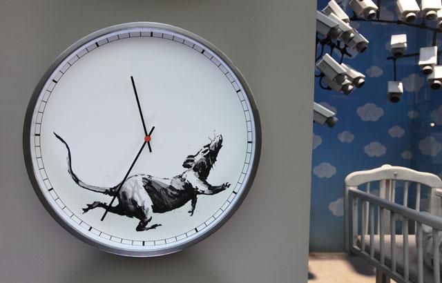Banksy clock