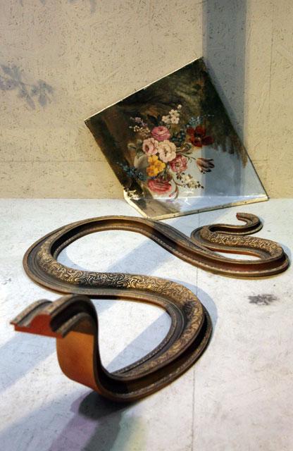Banksy frame snake
