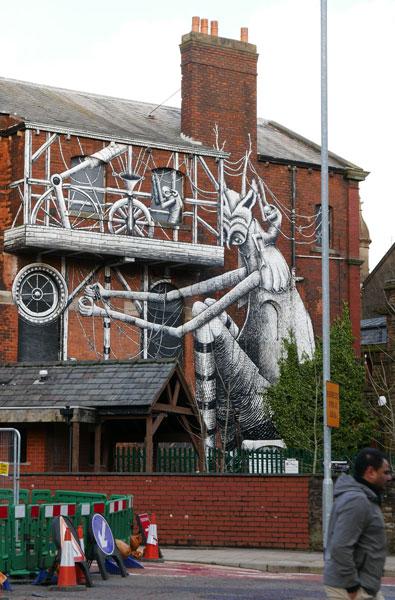 Phlegm Blackburn street art