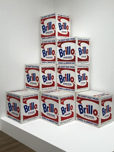 Andy Warhol - White Brillo Boxes