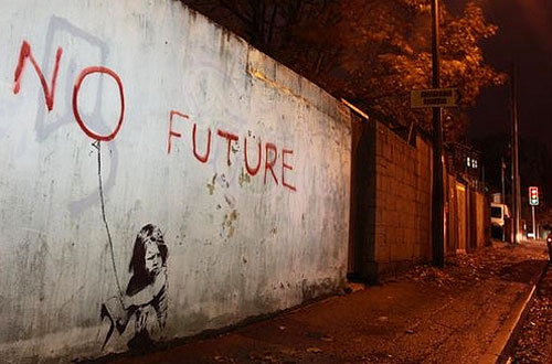 Banksy street work