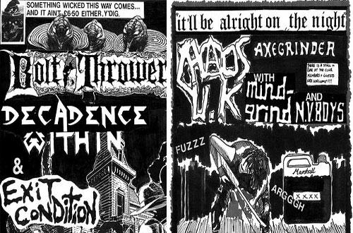 Punk gig flyers
