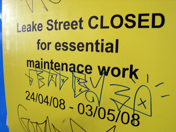 Leake Street closed