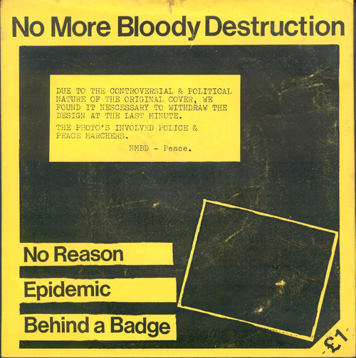 No More Bloody Destruction No Reason single alternative cover