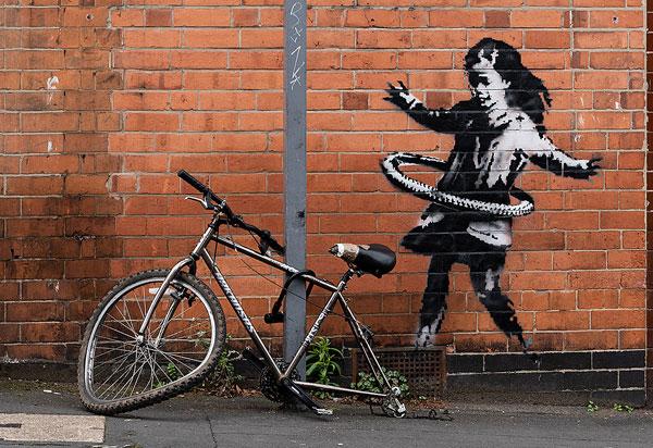 Banksy Hula Girl