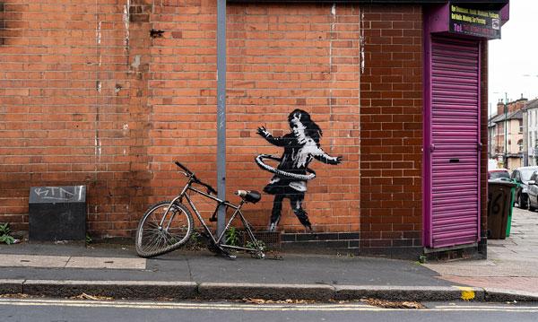 Banksy Hula child, Nottingham