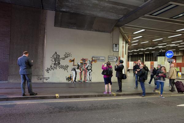 Banksy Basquiat at the Barbican