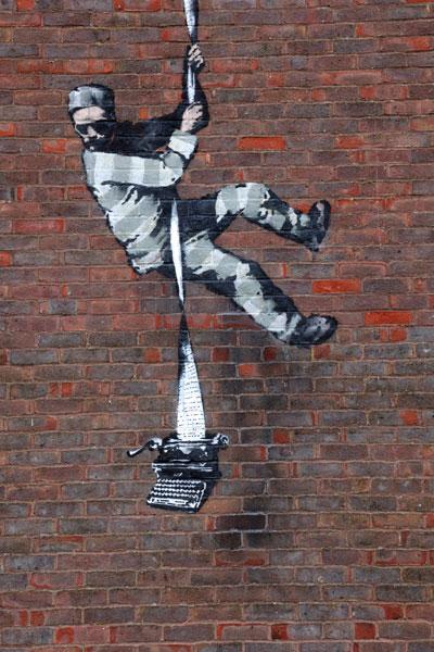 Banksy Oscar Wilde Reading Prison