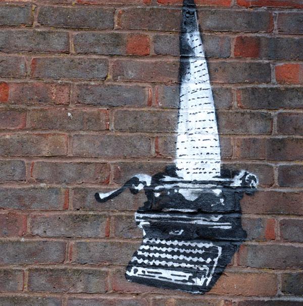 Banksy Reading Prison typewriter