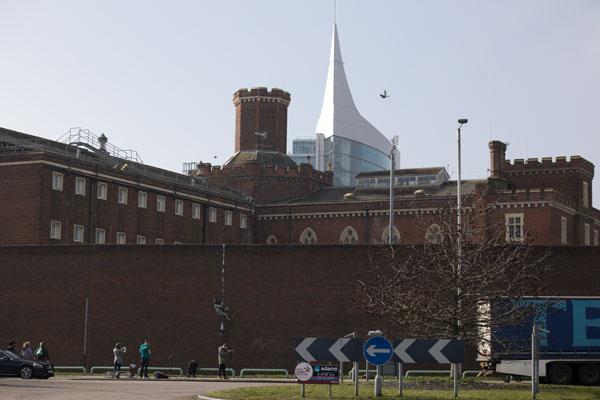 Banksy Reading Prison - wide view