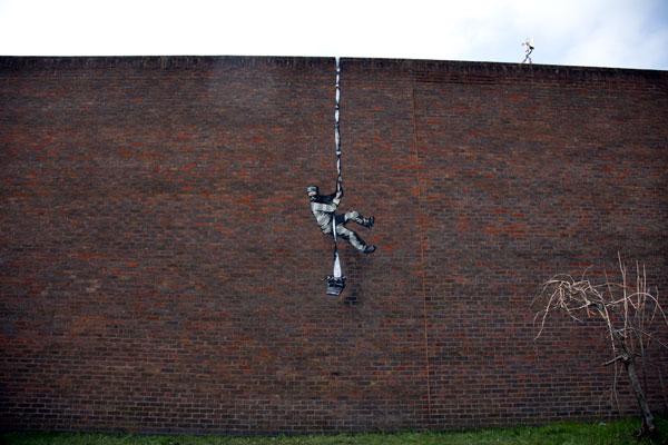Banksy Reading gaol wall