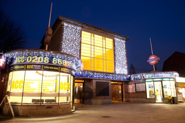 Eastcote station Christmas Lights