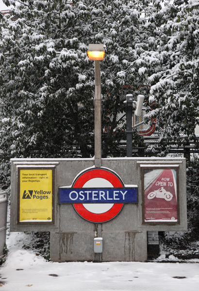 Osterley Station sign