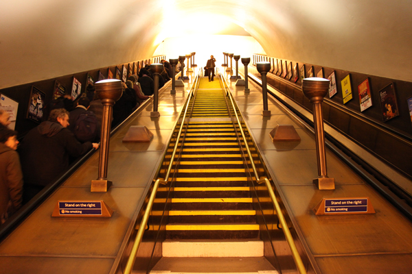 Southgate station escalators