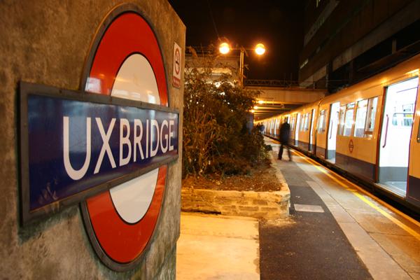 Uxbridge Station sign