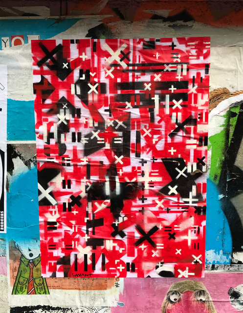 Savant layered stencil paste up