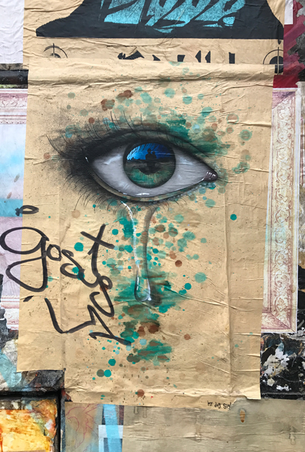 My dog sighs street art