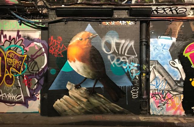 Skyhigh Robin graffiti