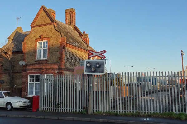 Disused station house at Colnbrook