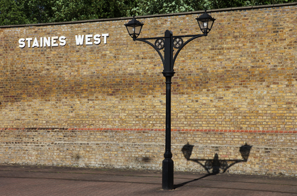 Staines West station lamp