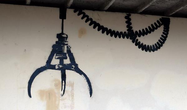 Banksy arcade claw - close up