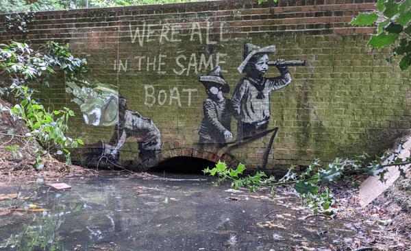 Banksy boat