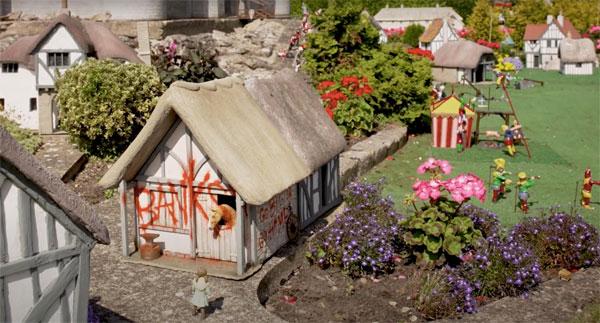 Banksy Merrivale Model Village stables
