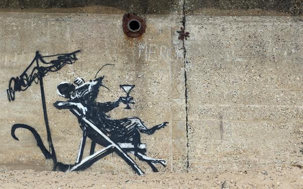 Banksy cocktail rat