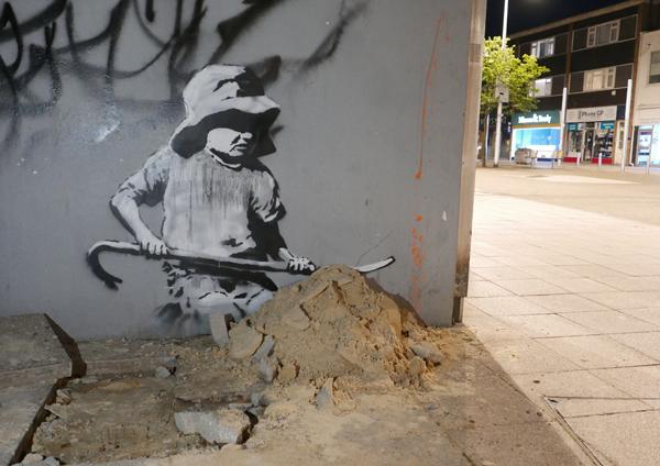 Banksy Sandcastle