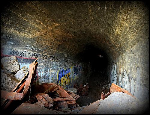 Feltham Marshalling Yards hump tunnel